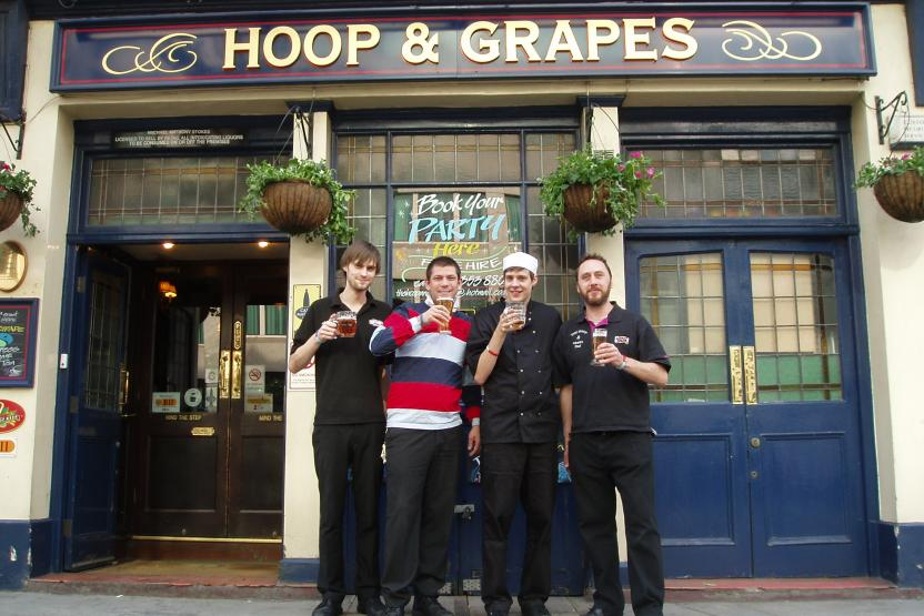 The Hoop & Grapes Team Celebrate raising £500 for Help for Heroes!