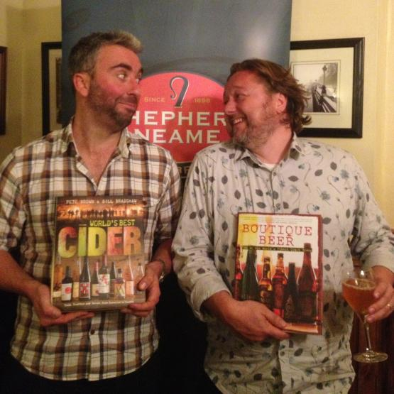 Beer Writers, Ben McFarland & Pete Brown. Book launch at the Hoop & Grapes, Farringdon, London